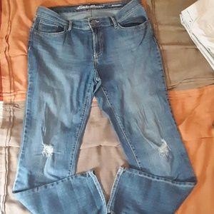 Eddie Bauer distressed boyfriend jeans 8